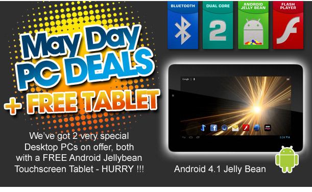 May Day PC Deals with FREE Android Tablet