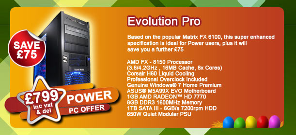 Based on the popular Matrix FX 6100, this super enhanced specification is ideal for Power users, plus it will save you a further £75