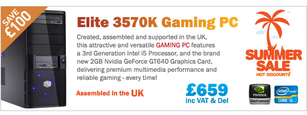 Save £100 on this fantastic Gaming PC with Intel i5 processor and the all new Nvidia GeForce GT640