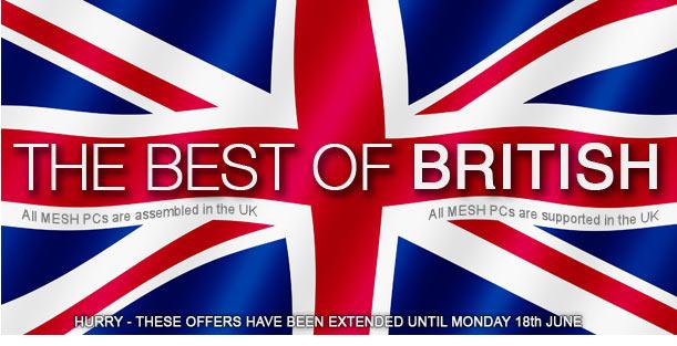 Exclusive Money Off Best of British Deals at MESH