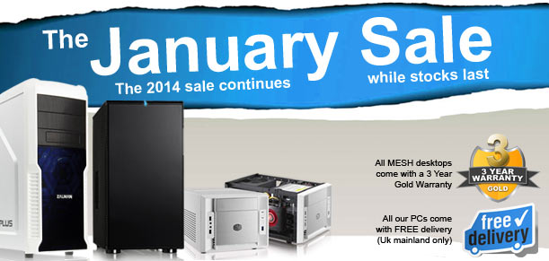 The MESH January Sale has begun - big savings to be had!
