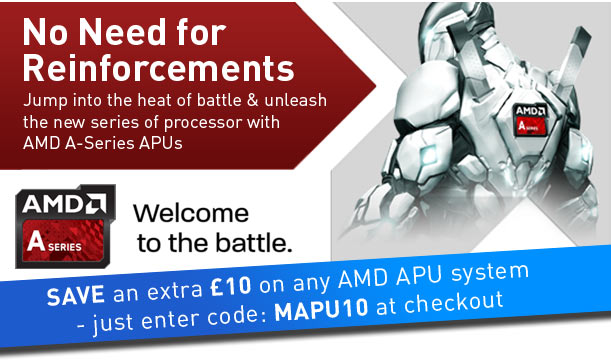 Jump into the heat of battle and unleash the new series of processor with AMD A-Series APU's