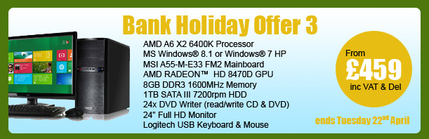MESH Bank Holiday PC Offer 3 - ends Tuesday 22nd April