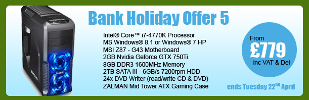 MESH Bank Holiday PC Offer 5 - ends Tuesday 22nd April