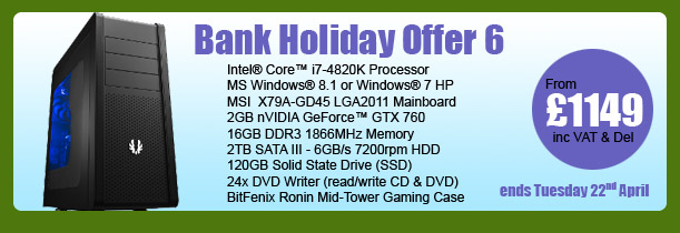MESH Bank Holiday PC Offer 6 - ends Tuesday 22nd April
