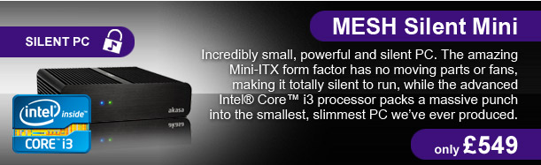 MESH Silent Mini - the smallest PC we've ever produced - only £549