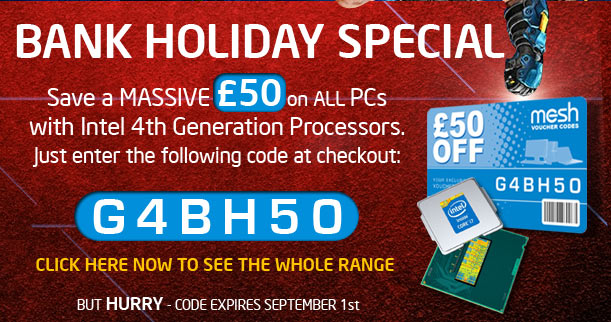 Save £50 on any PC featuring Intel 4th Generation Processors