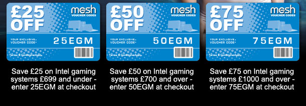 EXCLUSIVE VOUCHER CODE SAVINGS ON THE INTEL GAMING SERIES FROM MESH