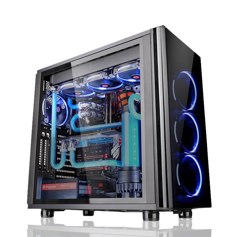 Computers MESH Titan Liquid Cooling PC with Intel Core i7-7700K 8MB Cache, 11GB NVIDIA GeForce GTX 1080 Ti Cards GPU