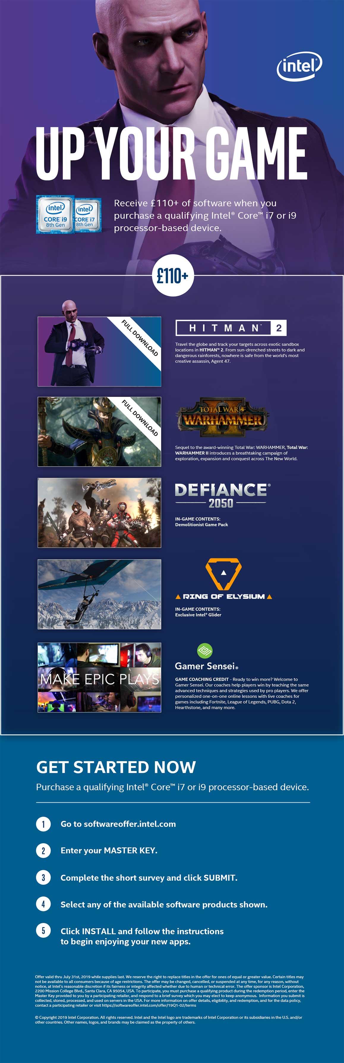 Intel Free Game Promo.